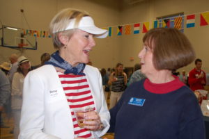 Yacht Rock- Margaret Ruffing talking to attendee